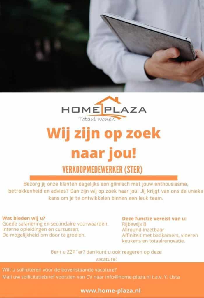 Vacature Home plaza verkoopmedewerker